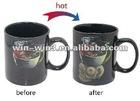 black inner porcelain drinkware coffee mug