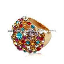 2012 high end finger ring with rhinestone