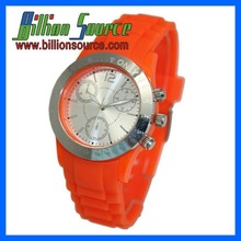 silicone japan movement stainless steel watch