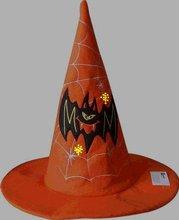 charming optical fiber flashing embroidery decoration halloween peaked hat(19)