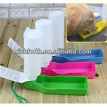 Portable pet water feeding bottle