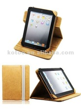 360 degree rotatable PU leather case/cover for iPad