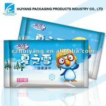 Heat seal plastic bags for wet wipe packaging