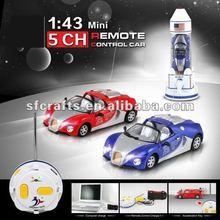2012 new 1:43 mini 5CH metal remote control car