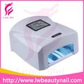 Lw-303 quick dry 36w gel uv da lâmpada secador de unha luz& 36w unha lâmpada uv para secar o gel uv gel e polonês