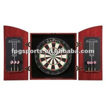 Solid wood dartboard cabinet set