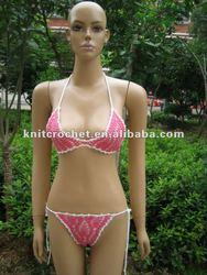 Sexy 100% Hand Knit Crochet Bikini Swimsuit Swimwear Beachwear