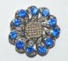 Blue shiny luxury diamond jewelry accessory for fashion style