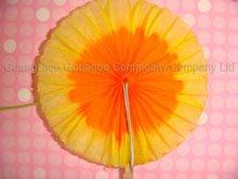 decorative wooden party pick 100mm sun flower picks