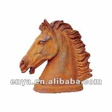 Cast Iron Horse Head Statue, Garden Animal Sculpture