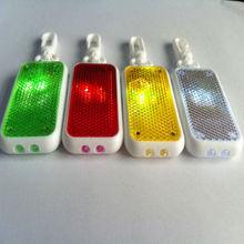 Bright Reflector Torch Key Ring - Reflective Flash Light - Walking Cycling Safety Warning Flashlight