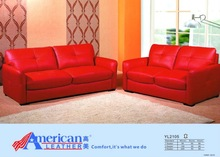 2012 Top Sale Sofa,Modern Design Leather Sofa Sets Red 3+2+1