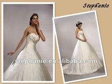 A6237 Stephanie Hotsale A-line Satin Wedding Dress Real Sample