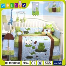 Luxury frog baby crib bedding set
