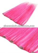 2012 best seller red clip in hair extensions