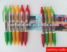 multi-color plastic retractable banner pen