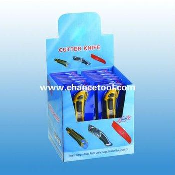 12 pcs easy cut auto-retractable utility knife UK139