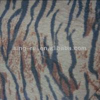 PU leather Flocking True Long Fur Textile
