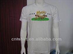 Free promotional t shirts cheap cotton white t shirt