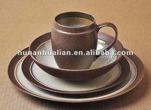 chocolate glazed color porcelain dinnerware sets