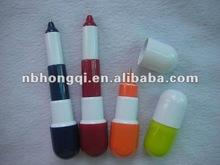 Novelty Plastic ball pen Pill shape Pen/ Capsule pen for promotion