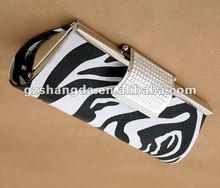 Printed zebra clutch bag for women 2012 best selling