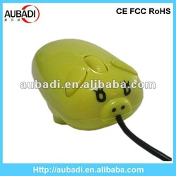 3D Animal Design Pig Shaped Cute Computer Mouse