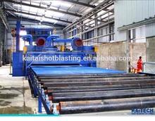 High Quality Roller Conveyor Type Sand Blasting Machine,Wheel Sandblaster