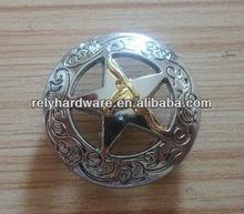 Zinc alloy round fashion concho