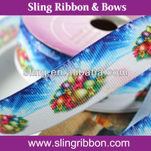 Printed Ribbon for Christmas Adornment/Decorative/Ornament/Embellishment