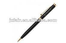 black metal pen with logo