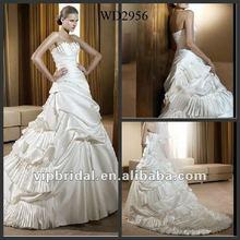 2012 White Taffeta Ruffle ball gown wedding dresses pictures