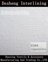 Woven interlining fabric fusible buckram EVA Coating