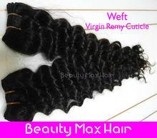 Double layers, cheap brazilian hair weave packaging,natural color 100g/pc,brazilian virgin hair