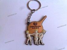pvc Factory flexible soft pvc keychain,cartoon pvc key chain, pvc soft rubber keychains