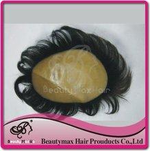 2012 Newest,100% European Remy hair, men's Toupee