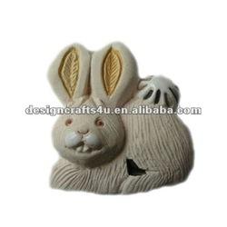 Ceramic rabbit animal fridget magnet