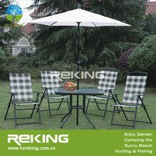 Folding venice garden furniture with a patio umbrella