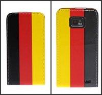 Deutsch Flagge Tasche German National flag pattern leather flip case for samsung galaxy s2 i9100