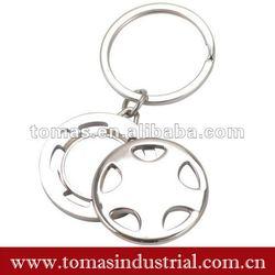 fancy design key item with car steering wheel