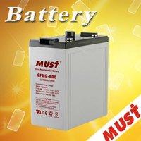 Hot sales promotion!! gel battery 2v 600ah battery solar volta batteries for ups