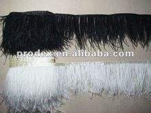 Fashion Ostrich Feather Trim Feather Fringe for wedding dress
