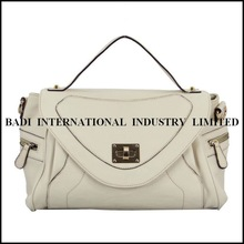 2014 solid white tote patent genuine leather handcrafted handbags 2012 genuine leather