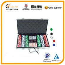 300 pieces aluminum poker chip case