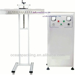 Automatic induction plastic container sealer for production line