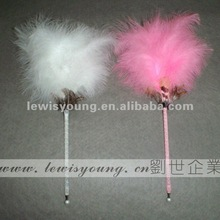 Colorful feather hairy ball pen Big plume gift pen