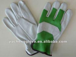 JCA008 Cow Grain Leather/Mesh Fabric Gardening Glove, Garden Gloves ,China