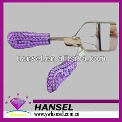 crystal rhinestone bling tweezers plastic eyelash curler