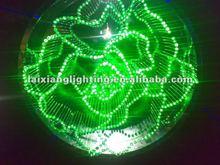 2013 fiber optic led crystal fiber optic pendant sphere crystal light