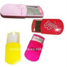 Slip cover plastic mirror pocket/electric makeup mirror